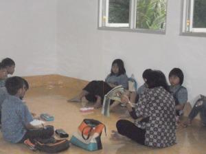 salah satu kelas untuk pembelajaran pasraman Purna Lingga Bekasi