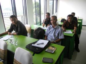 Sebagian dari peserta Rakor adalah Pengurus MGMP tingkat Propinsi